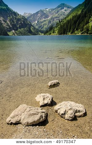 Lake And Mountain In Vertical Format