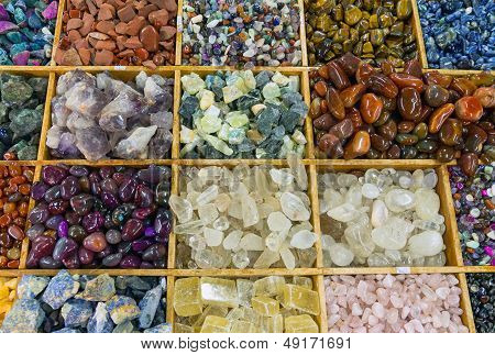 Colourful gemstones