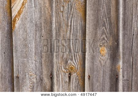 Close-up Of Wooden Old Cottage House Wall