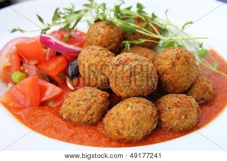 Falafel  Close-up.