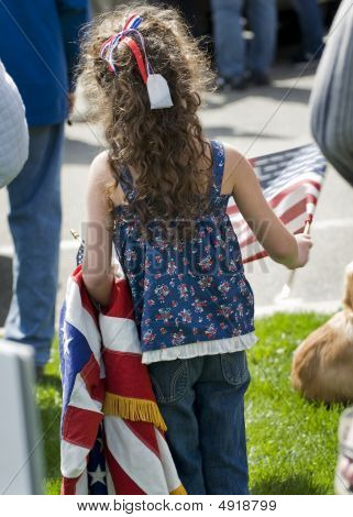 Little Girl At Political Tea Party