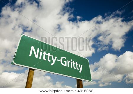 Nitty-gritty Road Sign