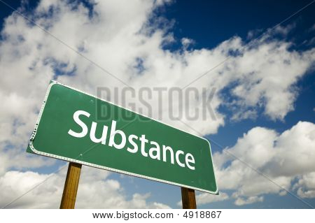 Substance Road Sign