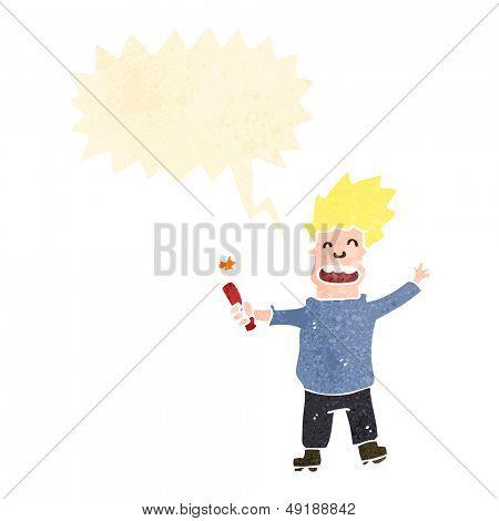 retro cartoon man with stick of dynamite
