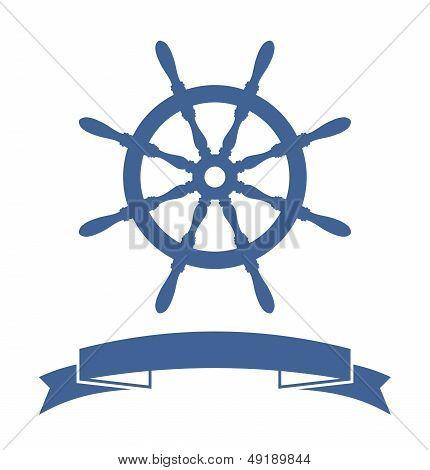 Ship Wheel Banner