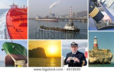 Marine Merchant Fleet Collage – Tankers.