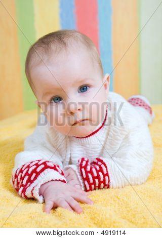 Portrait Small  Caucasian Girl