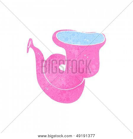 tuba de dibujos animados retro rosa
