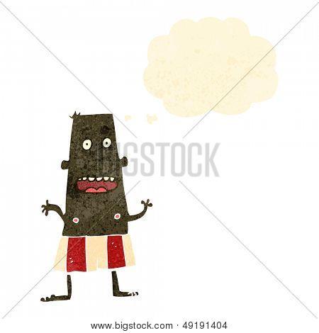 retro cartoon man in underpants