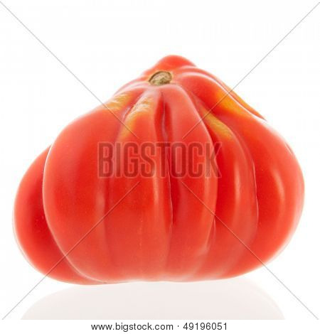 coeur de boeuf tomato isolated over white background