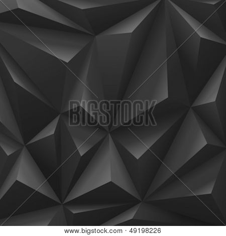 Black carbon background abstract polygon triangle. Vector. Fashion Luxury style.