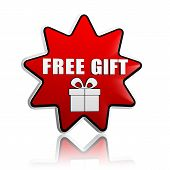 stock photo of free-trade  - free gift and present box symbol  - JPG