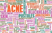 stock photo of papule  - Acne Problem and Treatment Concept as Art - JPG