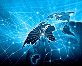 picture of debate  - Blue vivid image of globe - JPG