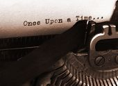 foto of short-story  - a photo of an old type writer with focus on the text - JPG