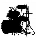 foto of drum-set  - Drum set is on the scene - JPG