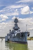 foto of bayou  - The Famous historic Dreadnought Battleship in Texas - JPG