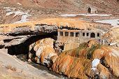 stock photo of aconcagua  - puente del inca in mendoza province of argentina - JPG