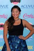 LOS ANGELES - AUG 11:  Jenna Ushkowitz at the 2013 Teen Choice Awards at the Gibson Ampitheater Univ