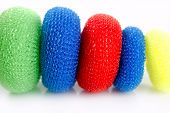 Domestic Colorful Sponge Washer For Dishes poster
