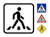 stock photo of pedestrians  - Pedestrian Symbol Vector Illustration isolated on white background - JPG