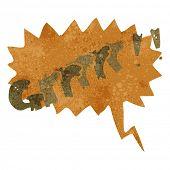 stock photo of growl  - retro cartoon comic book growl - JPG
