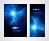 stock photo of electricity  - Brochure business design template or banner - JPG