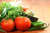 pic of cilantro  - Picante Salsa Ingredients of Avocado - JPG