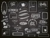stock photo of teapot  - Chalkboard Ads - JPG