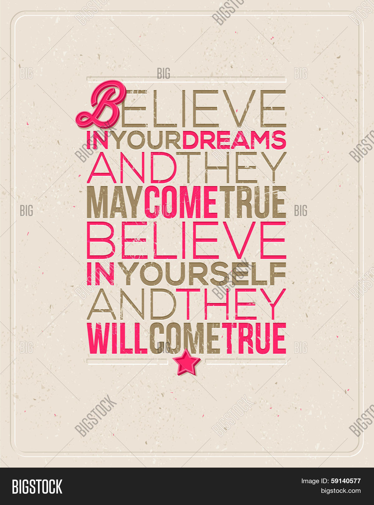 "Motivating Quotes Motivating Quotes  ""believe Your Vector & Photo  Bigstock"