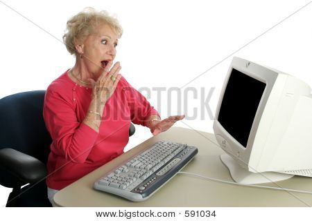 Senior Lady Online - Shocked