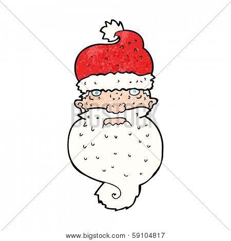 cartoon grim santa face