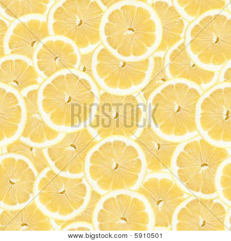 Seamless Lemon Slice Pattern