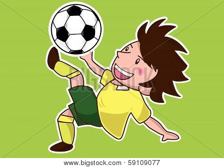 cartoon soccer player