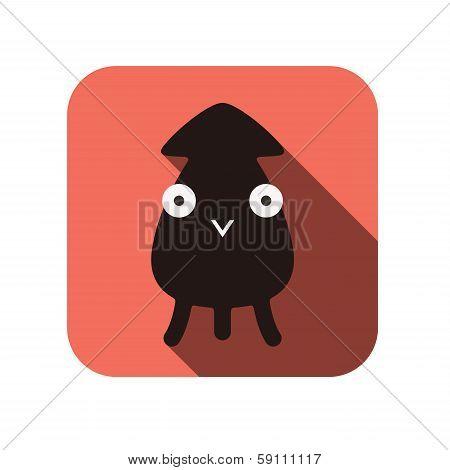 Sepia animal flat icon