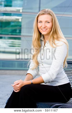 Attractive Blonde Business Woman