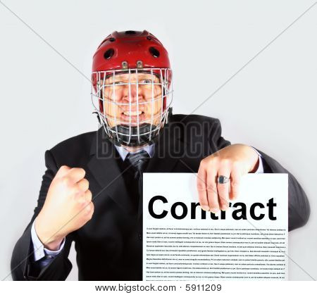Businessman insists on Contract