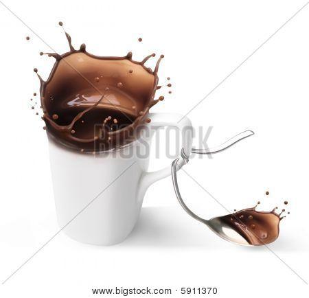 chocolate con leche caliente