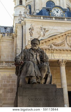 Victor Hugo Monument In Paris, France