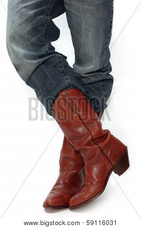Legs In Cowboy Boots