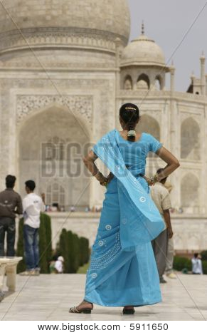 Indian Tourist at the Taj Mahal