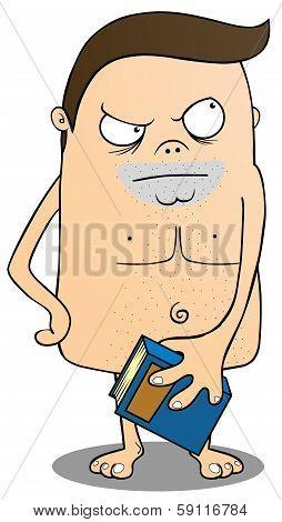 Nakedman With Book