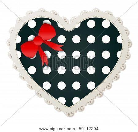 Heart Shaped Polka Dot Patch