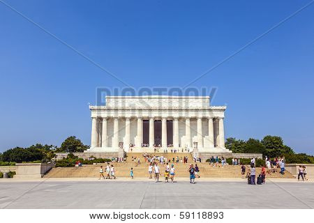 People Visit Lincoln Memorial In Washington