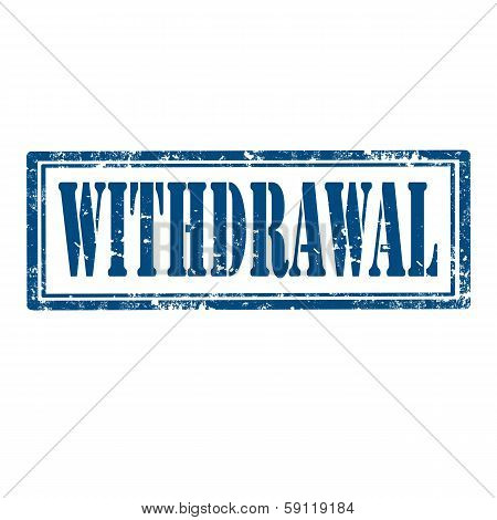 Withdrawal-stamp