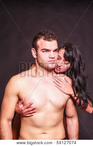 Seductive passionate woman