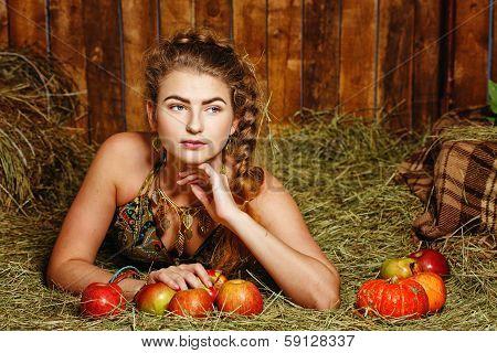 Girl In Hayloft
