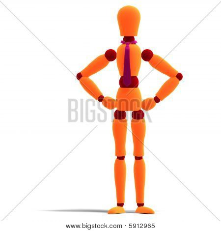Orange And Red Manikin