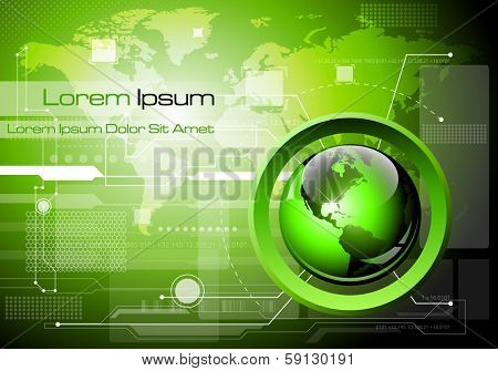 Futuristic technology abstract background - Vector illustration