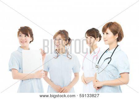 Beautiful asian young hospital staff